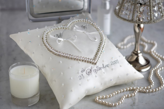 Princess ring cushion lifestyle shot £72