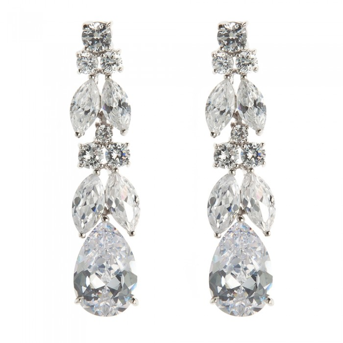 Flora Wedding Earrings - £79.99 - www.olivierlaudus.com